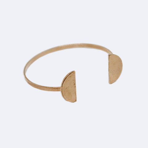 PULSERA DE LATÓN ROSE GOLD DE  MEDIA LUNA  B0037RG