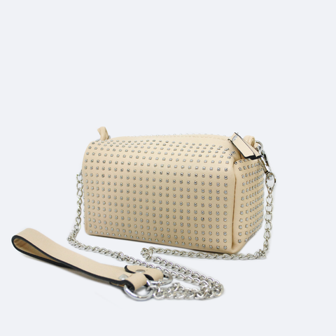 PRECIO EXCLUSIVO ONLINE BOLSA MINI CRUZADA COLOR BEIGE CON ESTOPEROLES  S87184BG