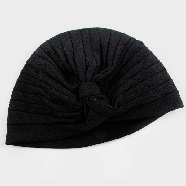 Turbante ajustable color negro