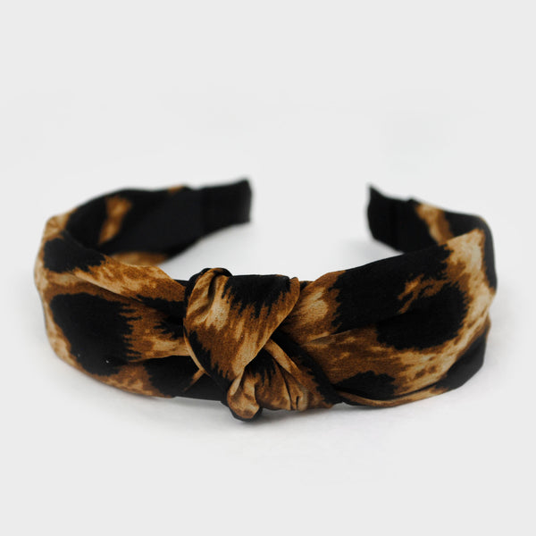 Diadema turbante leopardo