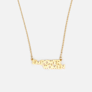 "Collar finito con dije de ""EMPOWER WOMEN"""