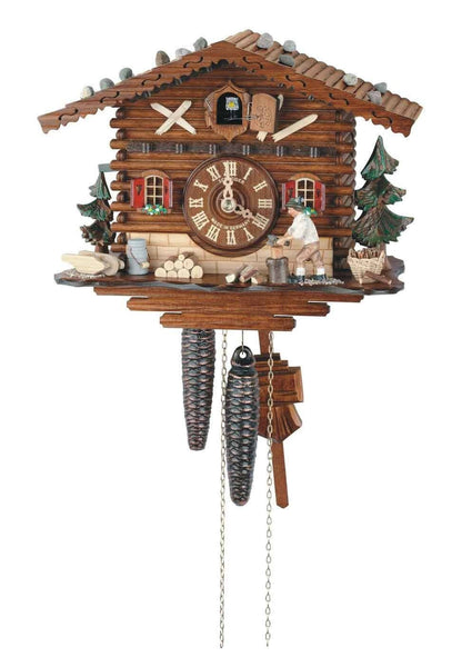 "Schneider 11"" Black Forest Heidi With Jumping Goat German Cuckoo Clock - GermanGiftOutlet.com"