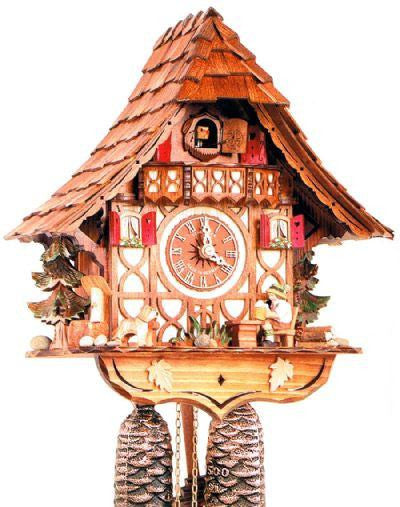 "Schneider 12"" Black Forest Beer Drinker German Cuckoo Clock - GermanGiftOutlet.com"