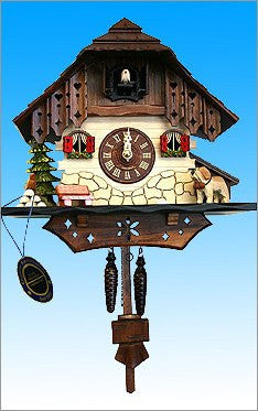 Black Forest Tall Chalet German Cuckoo Clock - GermanGiftOutlet.com