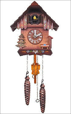 Black Forest Battery Operated German Cuckoo Clock with 12 Tunes - GermanGiftOutlet.com