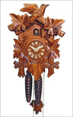 Black Forest - German Cuckoo Clock with Birds and Walnut Finish - GermanGiftOutlet.com