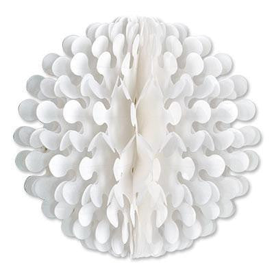 "White Tissue Flutter Ball Oktoberfest Decoration 9"" - GermanGiftOutlet.com"