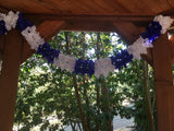 Blue and White Oktoberfest Pageant Garland Decoration 14 Feet - GermanGiftOutlet.com  - 2