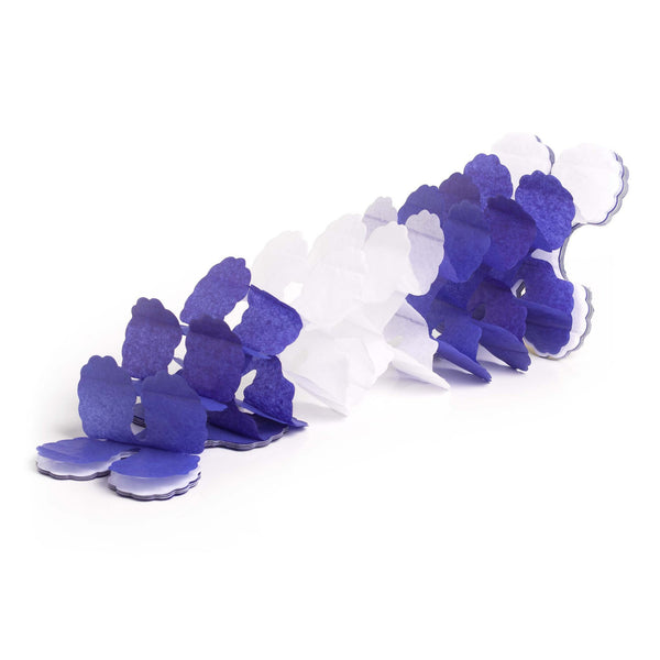 Blue and White Oktoberfest Tissue Garland Party Decorations 12 feet long - GermanGiftOutlet.com  - 1