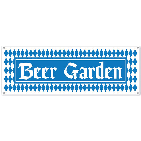 "Oktoberfest Beer Garden Sign Banner Party Accessory 5' x 21"" - GermanGiftOutlet.com"
