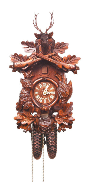 Black Forest Eight Day German Cuckoo Clock - GermanGiftOutlet.com