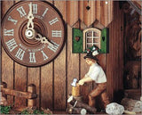 "Schneider 12"" Black Forest Wood Chopper Eight Day Movement German Cuckoo Clock - GermanGiftOutlet.com  - 3"