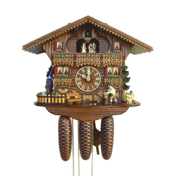 "Schneider Black Forest 12"" Musical Wood Chopper Eight Day Movement German Cuckoo Clock - GermanGiftOutlet.com"