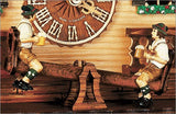 "Schneider German Black Forest 11"" Musical Beer Drinkers on Teeter-totter Eight Day Cuckoo Clock - GermanGiftOutlet.com  - 2"