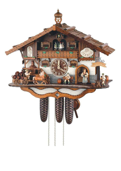 "Schneider Black Forest 21"" Musical Rural Beer Garden Eight Day Movement German Cuckoo Clock - GermanGiftOutlet.com"