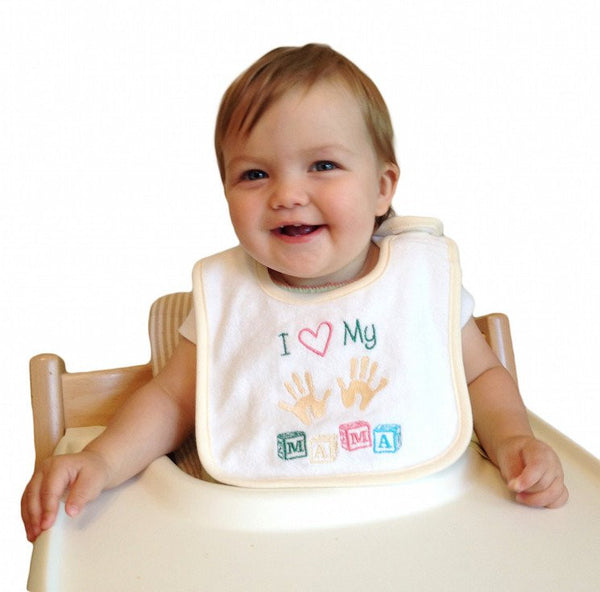 Unique Baby Gift Bib: Love My Mama - GermanGiftOutlet.com