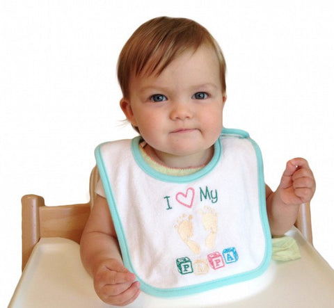 Unique Baby Gift Bib: Love My Papa - GermanGiftOutlet.com