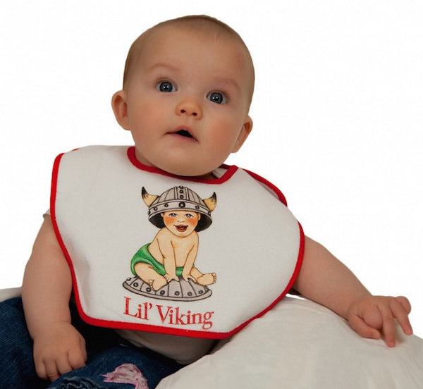 Norwegian Gift Idea Baby Bib: Lil' Viking - GermanGiftOutlet.com  - 1
