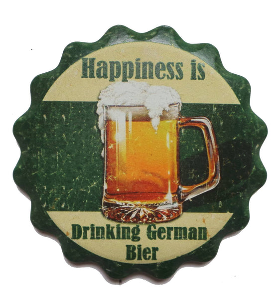 """Happiness Is Drinking German Beer"" German Gift Coaster - 1  - GermanGiftOutlet.com"