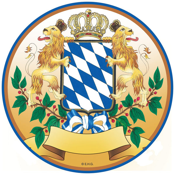 Bayern Coat of Arms German Four Piece Coaster Set - GermanGiftOutlet.com