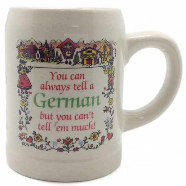 "German Coffee Mug: ""You Can Always Tell a German"" - GermanGiftOutlet.com  - 1"