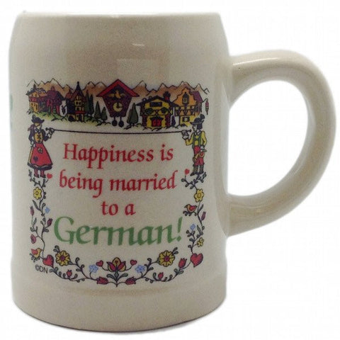 "German Coffee Cup: ""Happiness Married to German"" - GermanGiftOutlet.com  - 1"