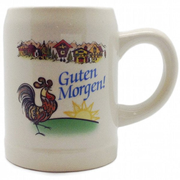 """Guten Morgen"" German Stoneware Coffee Mug - GermanGiftOutlet.com  - 1"