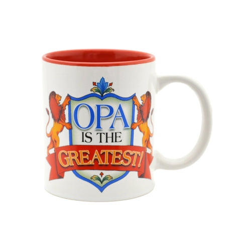 """Opa is the Greatest"" / Color Ceramic Coffee Mug - GermanGiftOutlet.com"