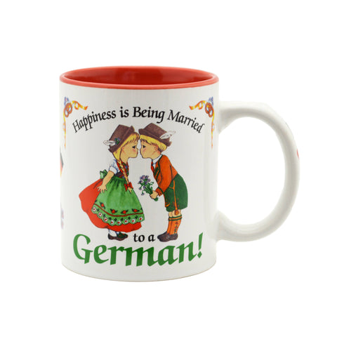 """Happiness is being Married to a German"" German Gift Mug - 4  - GermanGiftOutlet.com"