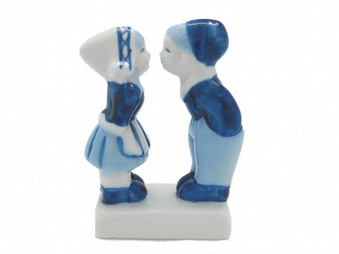 Kissing Couple Delft Blue Figurine - GermanGiftOutlet.com  - 1