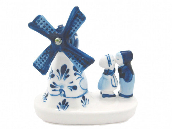"Windmill & Delft Kissing Couple (3"") - GermanGiftOutlet.com"