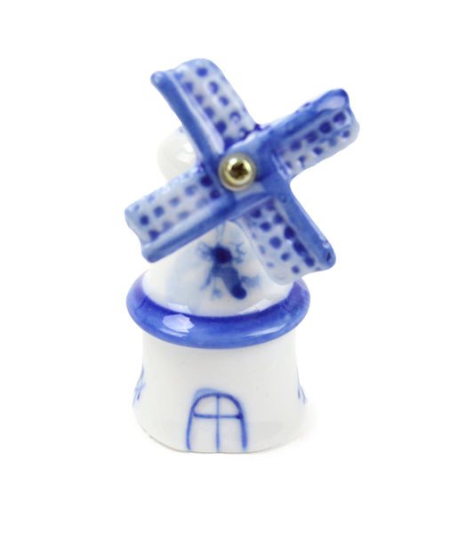 Blue & White Decorative Post Windmill - GermanGiftOutlet.com