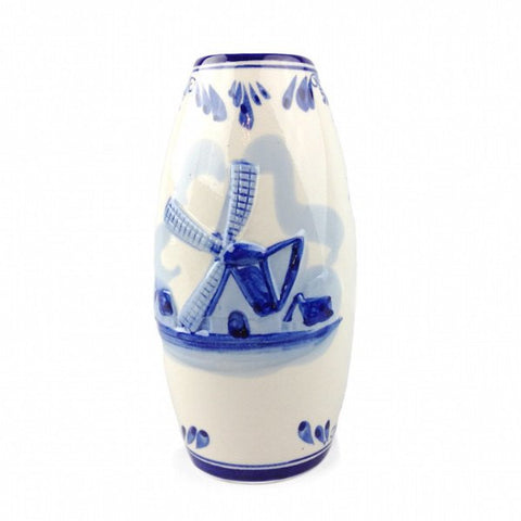 Embossed Windmill Delft Vase - GermanGiftOutlet.com