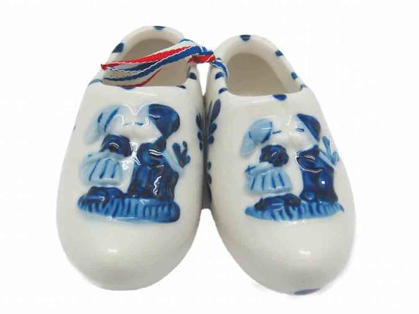 Delft Shoe Pair with Embossed Kiss Design - GermanGiftOutlet.com  - 1