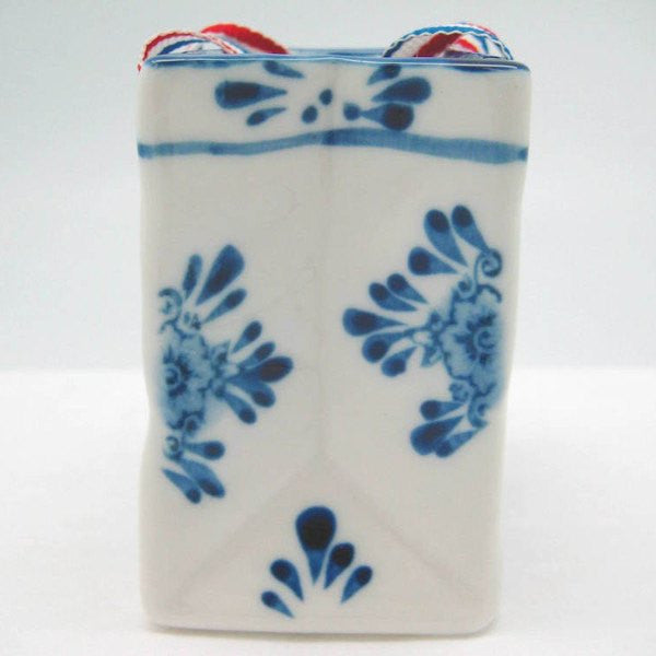 Delft Blue with Embossed Tulip Design and Ribbon - GermanGiftOutlet.com  - 2