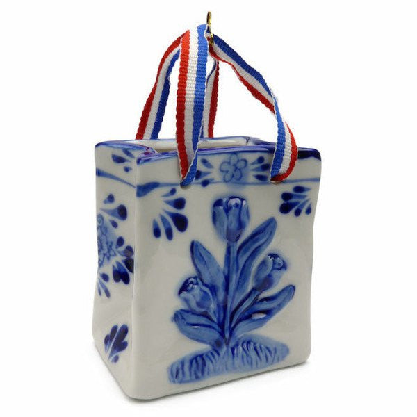 Delft Blue with Embossed Tulip Design and Ribbon - GermanGiftOutlet.com  - 1