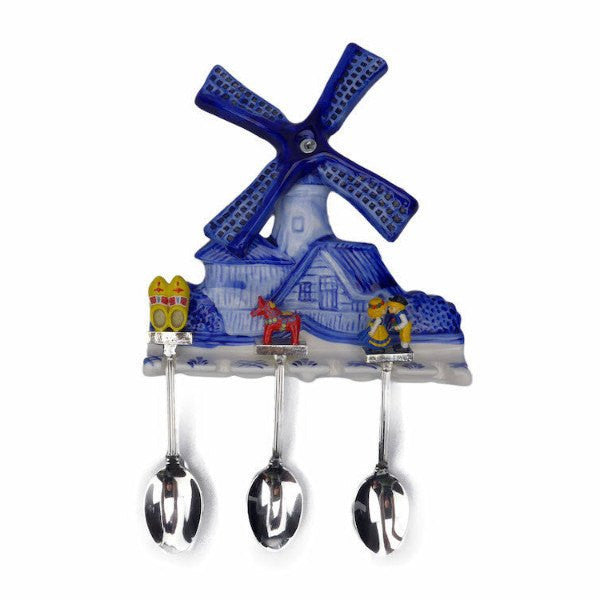 Ceramic Spoon Holder Delft Blue - GermanGiftOutlet.com  - 1