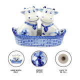 Cows Salt and Pepper Shakers: Cows/Basket - GermanGiftOutlet.com  - 3