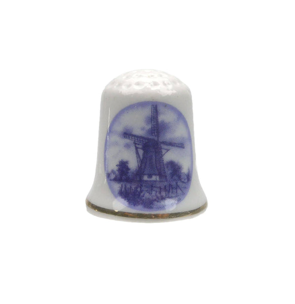 Windmill Souvenir Ceramic Thimble - GermanGiftOutlet.com  - 1