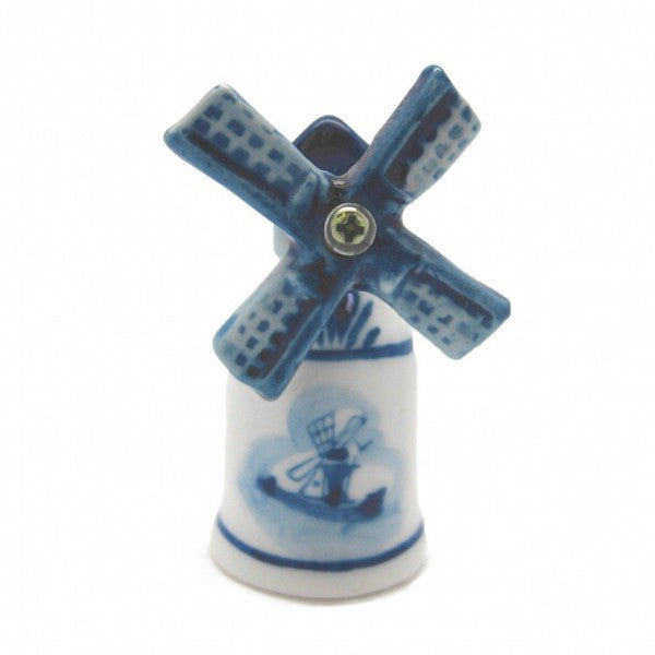 Collectible Thimble Blue and White Windmill - GermanGiftOutlet.com  - 1