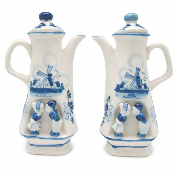 Oil and Vinegar Set Blue and White Kiss - GermanGiftOutlet.com  - 1