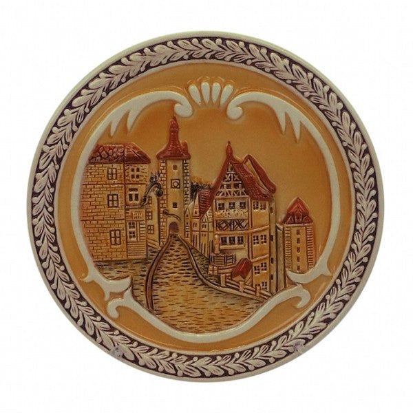 Embossed Rothenburg Souvenir Plate - GermanGiftOutlet.com