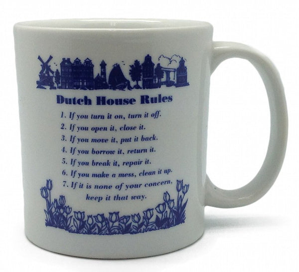 Ceramic Coffee Mug: Dutch House Rules - GermanGiftOutlet.com  - 1
