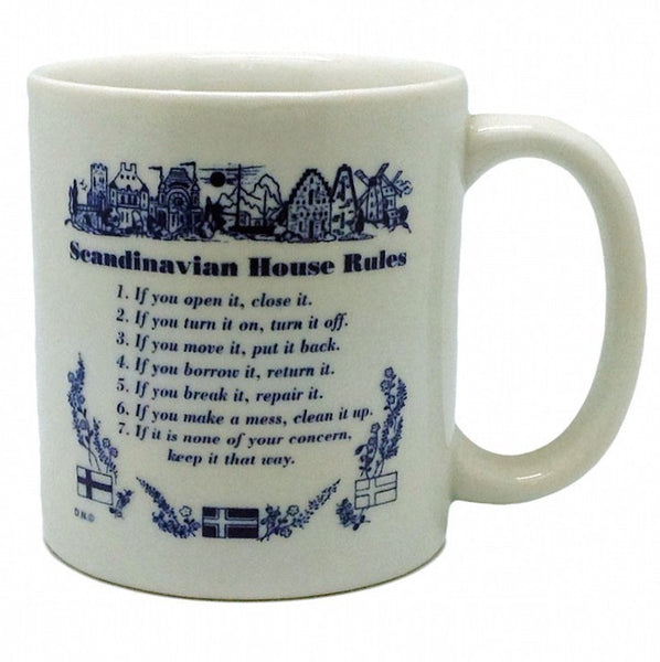 "Danish Gift Coffee Cup ""Scandinavian House Rules"" - GermanGiftOutlet.com  - 1"