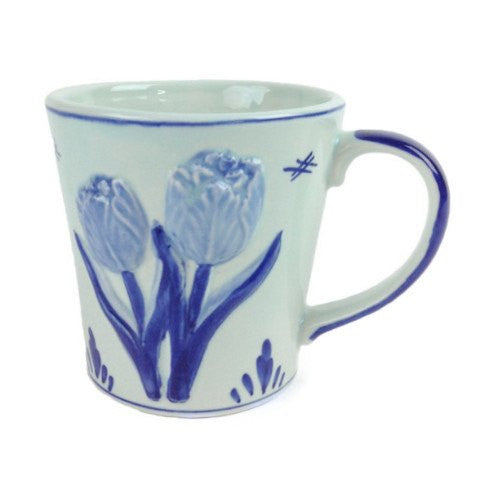 Deluxe Embossed Tulip Coffee Mug - GermanGiftOutlet.com