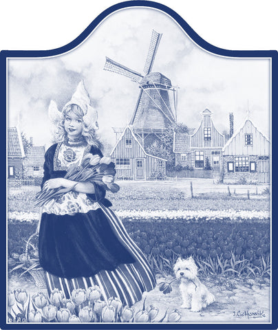 Tulip Girl in Blue Cheeseboard - GermanGiftOutlet.com  - 1