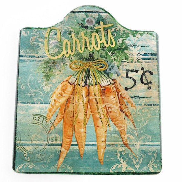 Ceramic Cheeseboard w/ Cork Backing: Carrots - GermanGiftOutlet.com  - 1