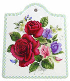 Ceramic Cheeseboard w/ Cork Backing: Roses - GermanGiftOutlet.com  - 1