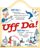 Ceramic Cheeseboard w/ Cork Backing: Uff Da - GermanGiftOutlet.com  - 1