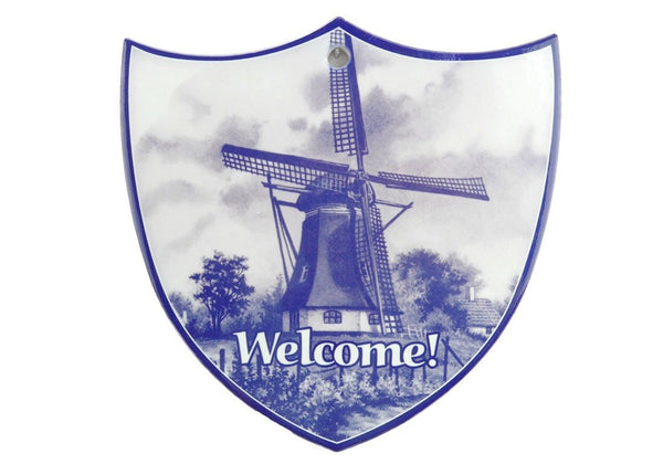 Ceramic Decoration Shield: Windmill - GermanGiftOutlet.com - 1